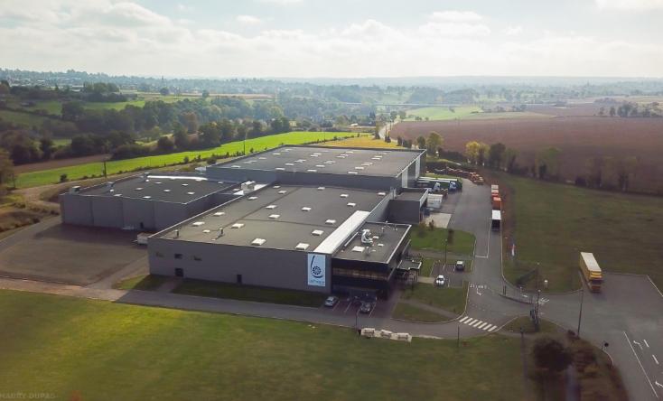 Vue aérienne du site de Lemoine France à Caligny